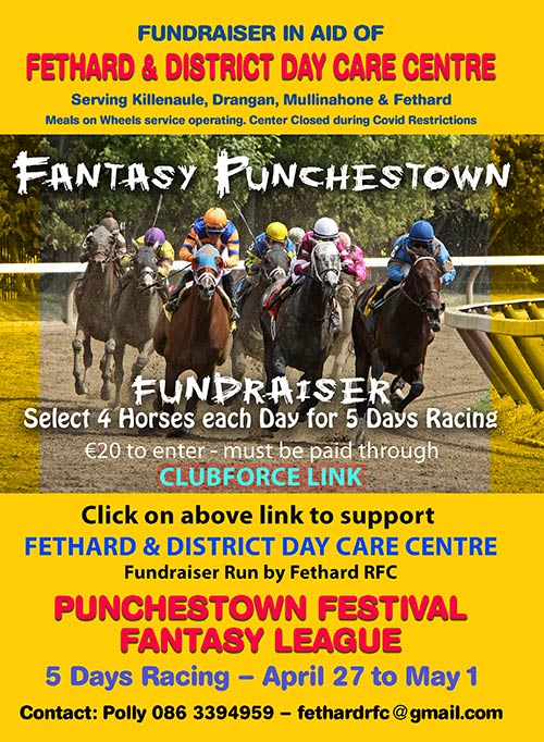 Punchestown Festival 'Fantasy League' in aid of Fethard & District Day Care Centre