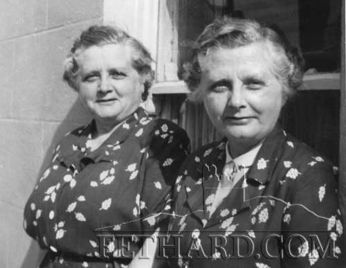 Twin sisters, May and Nell Grady, Burke Street, Fethard.