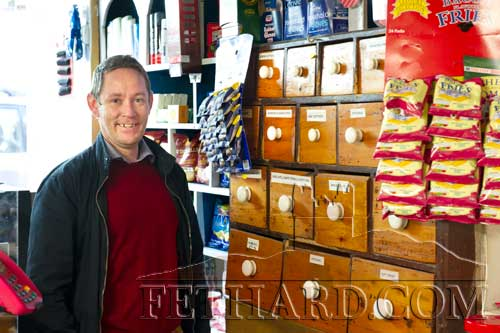Ray Doheny, manager of 'Sadies' grocery shop recently opened in Burke Street, Fethard.